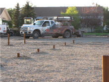 Screw piles for setting buildings